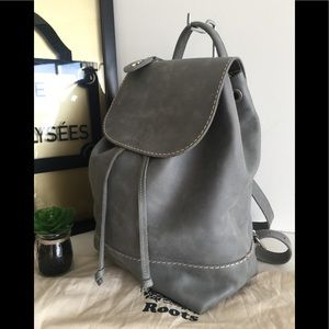 Roots Bags - Roots Canada Gray Leather Backpack